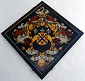 Church of St Mary interior hatchment Henham Essex England 2.jpg