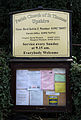 Church of St Thomas, Upshire, Essex, England - church sign board.jpg