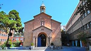 Holy Mother of God Church, Tehran - St. Astvatsatsin Church in Tehran. One of Iran's Armenian Churches, 2015