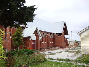 Church of the Good Shepherd, Christchurch - The Church of the Good Shepherd in Phillipstown, Christchurch, after the 22 February 2011 Christchurch earthquake