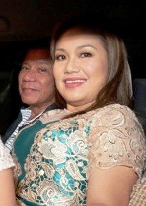 Honeylet Avanceña - Avanceña (right) with Duterte (left)