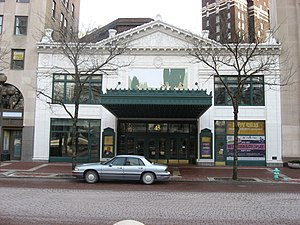 Hilbert Circle Theatre - Front of the theater