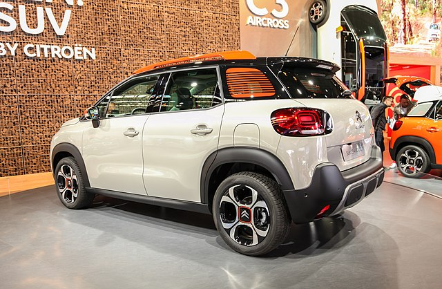 file citroen c3 aircross back img wikimedia commons. Black Bedroom Furniture Sets. Home Design Ideas