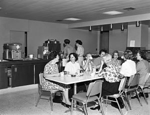 Break (work) - Seattle city employees taking a coffee break in the 1960s.