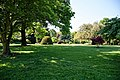 City of London Cemetery - Memorial Gardens lawn and trees 01.jpg
