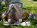 City of London Cemetery Winnie-the-Pooh Bear child's gravestone headstone 1.jpg