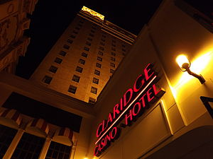 The Claridge Hotel (Atlantic City) - Closeup of the Signage