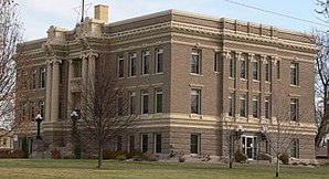 Das Clay County Courthouse in Clay Center, gelistet im NRHP Nr. 89002240[1]