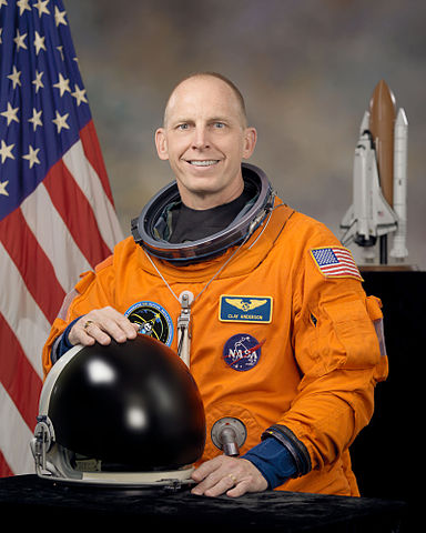 Astronaut Clayton C. Anderson, STS-131 mission specialist, NASA photo (3 Nov. 2009) Source: Wikipedia (spaceflight.nasa.gov killed 25 Feb 2021) 384px-Clayton_C._Anderson.jpg