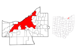 Location in Cuyahoga County, Ohio, USA