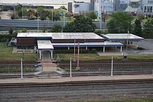 Cleveland Lakefront Station - Amtrak station, looking north