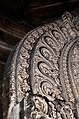 Close up view of decorative detail on peetha (throne) at Akkana Basadi.jpg