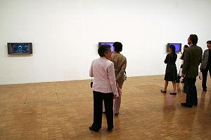 Claude Closky - Image: Closky Manege Prix Duchamp opening artlibre jnl