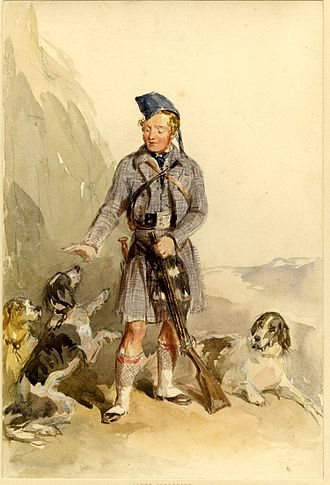 Clan Chattan - Portrait of Cluny MacPherson, chief of the Clan Chattan, circa 1873