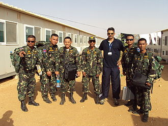 Royal Cambodian Armed Forces - Cambodian de-mining force in Sudan.