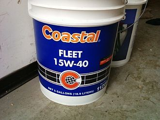 Coastal Corporation - A five-gallon bucket of Coastal brand motor oil