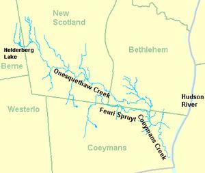 Coeymans Creek - Image: Coeymans Onesquethaw Creek 1