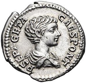 Geta (emperor) - Image: Coin of Geta