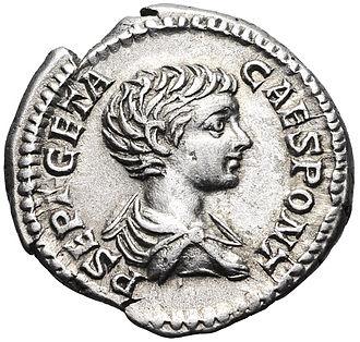 Geta (emperor) - A denarius of Geta.