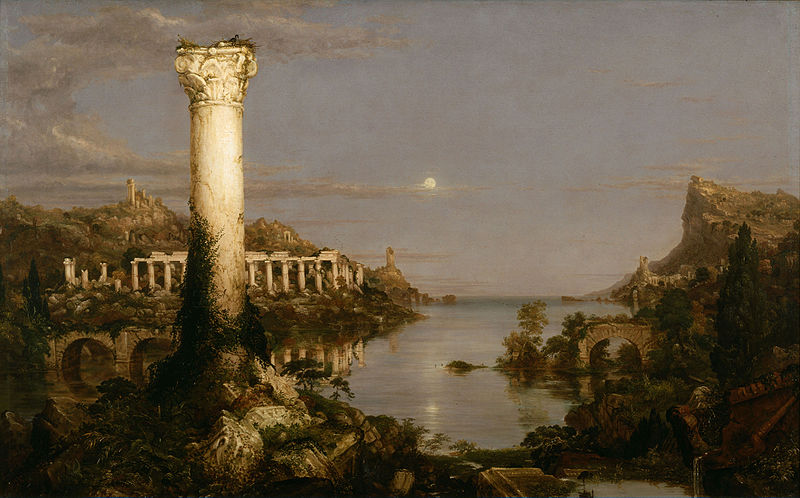 Thomas Cole the Course of Empire 1836 - Desolation