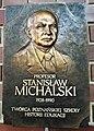Collegium Znanieckiego, Poznan, plaque (Stanisław Michalski).jpg