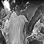 Columbia Glacier, Terentiev Lake, Calving Terminus and Calving Distributary, July 30, 1978 (GLACIERS 1114).jpg