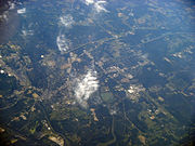 Columbus MS from airplane