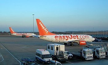 easyJet at Luton Airport