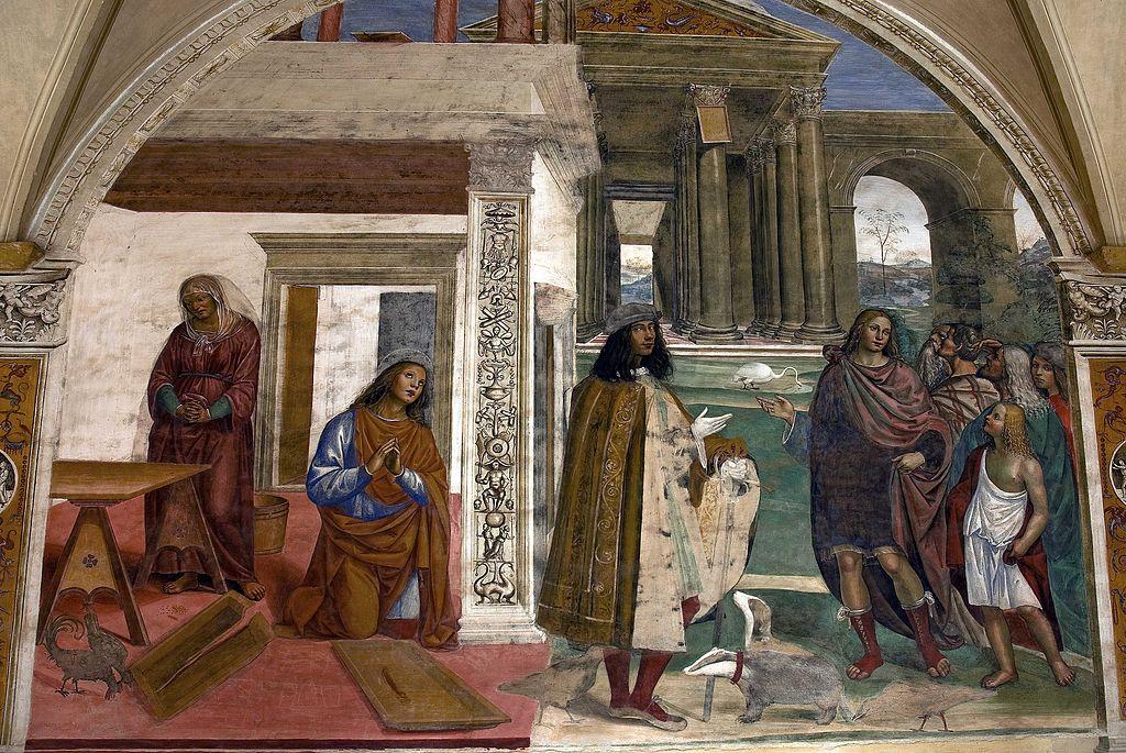 Il Sodoma, Come Benedetto risalda lo capistero che s'era rotto