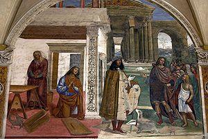 Territorial Abbey of Monte Oliveto Maggiore - Il Sodoma's fresco.