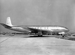 Airliner - Prototype of the de Havilland Comet in 1949, the first jet airliner in the world
