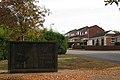 Commemorative wall, Blandford Way, Hampton Magna - geograph.org.uk - 1517677.jpg