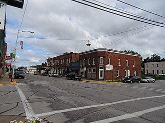 Bangor, Wisconsin - Image: Commercial street scene, circa 2014