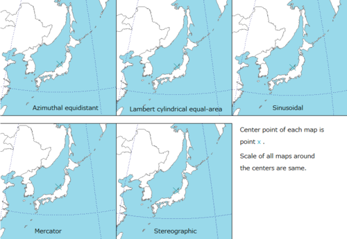 conformal map projection wikipedia