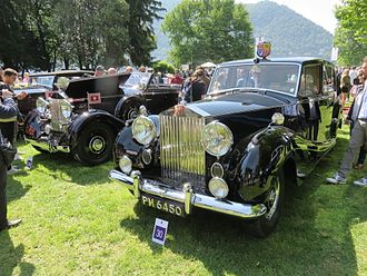 Concorso d'Eleganza Villa d'Este - Photo of a Rolls-Royce Phantom IV, built in 1954 for Princess Margaret, exhibited at the show in May 2015