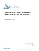Congressional Research Service Report R42072 - Legislative Branch Agency Appointments - History, Processes, and Recent Actions.pdf