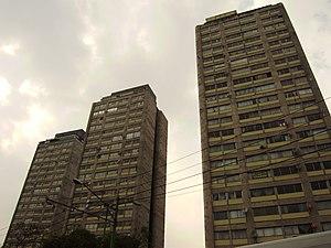 Conjunto Urbano Nonoalco Tlatelolco - Three of the buildings in the complex