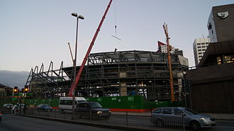 Sheffield Arena - The construction of the First Direct Arena (pictured) caused controversy in Sheffield.