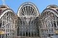 Construction of formwork at the Volokolamskaya metro station of the Moscow metro system (Russia) - Опалубочная система для станции метро Волоколамская.jpg