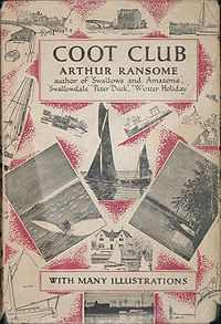 photo of Jonathan Cape edition of Arthur Ransome's 1934 novel, Coot Club