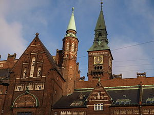 Copenhagen City Hall - Image: Copenhagen City Hall detail