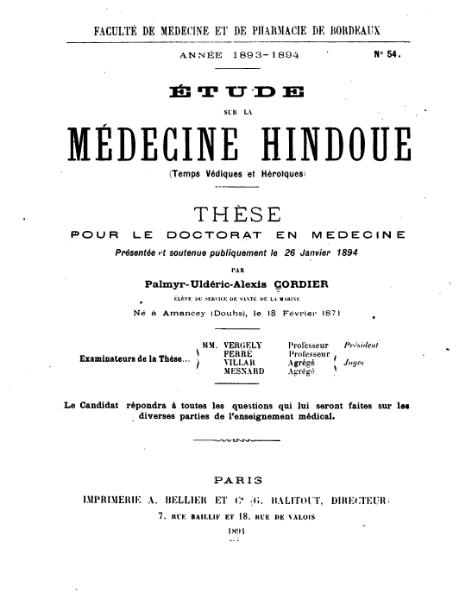 File:Cordier - Étude sur la médecine hindoue- (temps védiques et héroiques).djvu