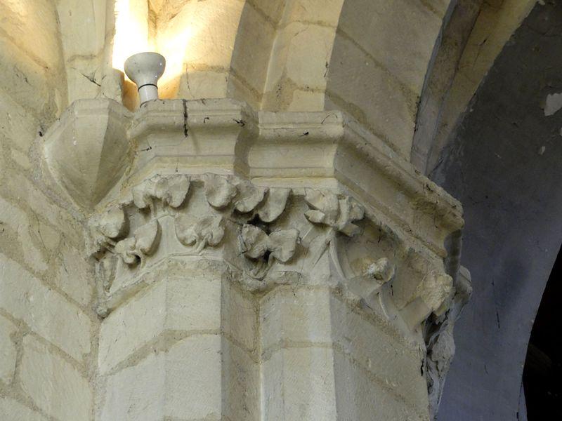 file cormeilles en parisis 91 glise saint martin base du clocher chapiteau au se jpg. Black Bedroom Furniture Sets. Home Design Ideas