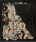 Cornelius Norbertus Gijsbrechts - Trompe l'oeil. Board Partition with Letter Rack and Music Book - Google Art Project.jpg