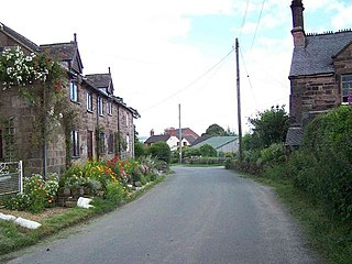 Consall Village in Staffordshire, England