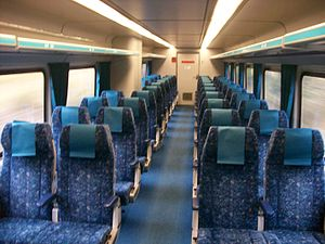 New South Wales Xplorer - Image: Countrylink Xplorer Economy Carriage seats