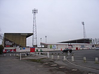 Swindon Town F.C. - The County Ground showing the Town End and North Stand
