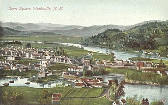 Woodsville, New Hampshire - Bird's-eye view in 1908