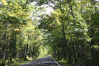 "U.S. Route 41 in Michigan - The ""Covered Trail"" south of Copper Harbor"