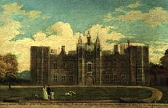 Cowdray House - Painting of Cowdray House circa 1790 before its decay.